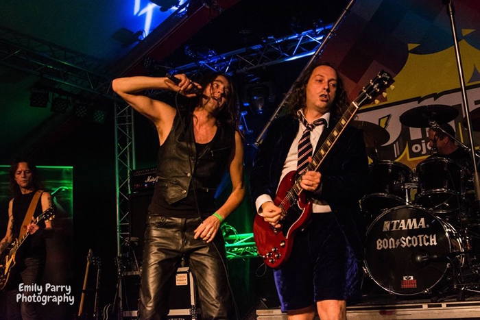 Bon Scotch, Michel, Mary, Mario, Geert, Comeet, Outdoor, Someren, AC/DC tribute