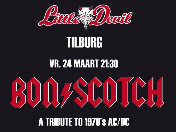 flyer, little devil, tilburg, bon scotch, ac/dc