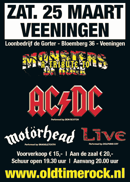 flyer, monsters of rock, veeningen, tribute, oldtimerock, bon scotch