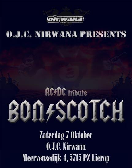flyer, nirwana, lierop, bon scotch, ac/dc tribute, nirwana lierop