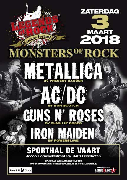 flyer, monsters of rock, legends of rock, linschoten, bon scotch, ac dc tribute