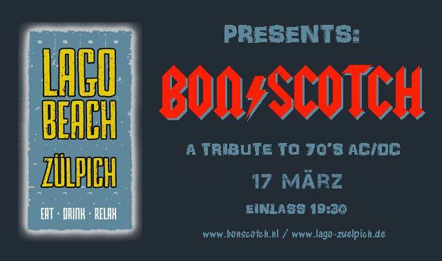 flyer, lago beach, Zuelpich, zulpich, duitsland, deutchland, bon scotch, ac/dc tribute, 17 marz