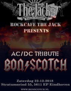 flyer, rockcafe, jack, eindhoven, bon scotch, ac/dc tribute, 22-12-2018