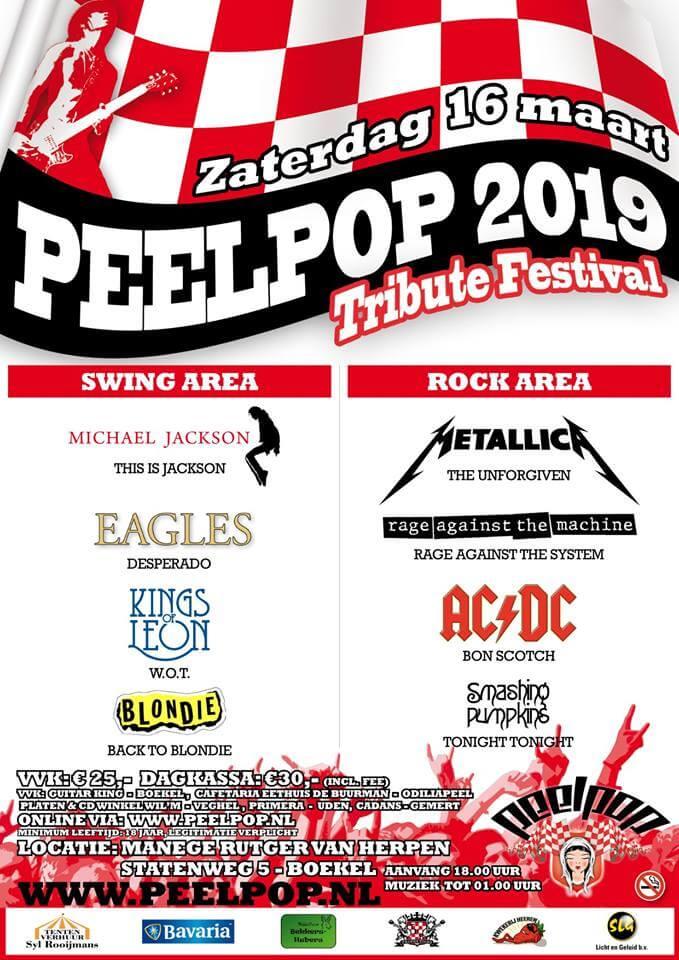 flyer, peelpop, boekel, 2019, bon scotch, ac/dc tribute, 16 maart, tribute festival