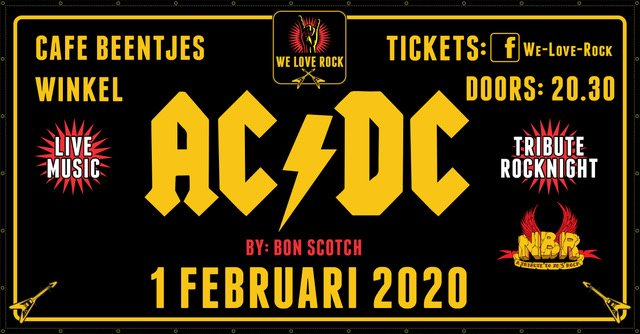 we love rock, bon scotch, acdc tribute, NBR, tribute rocknight, winkel, beentjes