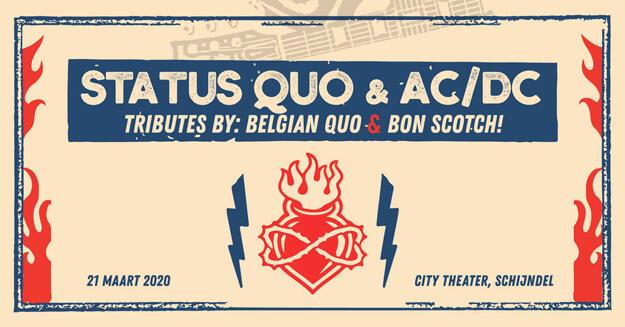 city theater schijndel, 21 maart bon scotch, ac/dc, belgian quo band, status quo