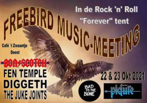 freebird music meeting, deest, zwaantje, bon scotch 23 okt 2021