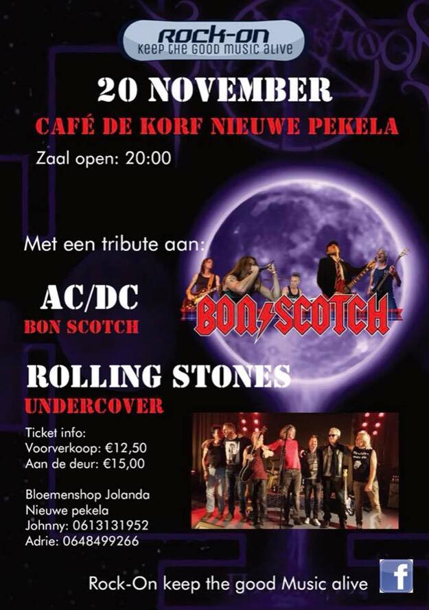 rock-on, 20 november 2021, Undercover (Rolling Stones), Bon Scotch (AC/DC), de korf, nieuwe pekela
